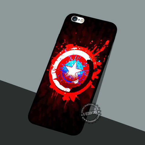 Camiseta Shield Marvel - iPhone 7 6 5 SE Cases & Covers
