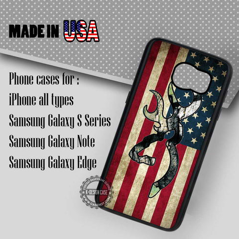 Browning American Flag Deer  - Samsung Galaxy S7 S6 S5 Note 5 Cases & Covers