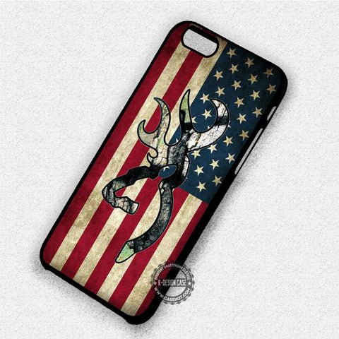 Browning Deer American Flag - iPhone 8+ 7 6s SE Cases & Covers