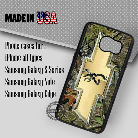 Camo Browning Chevrolet - Samsung Galaxy S7 S6 S5 Note 5 Cases & Covers