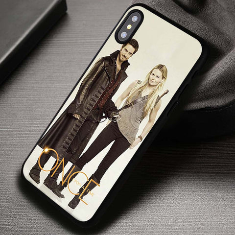 Captain Hook And Emma Swan Once Upon A Time - iPhone X Case