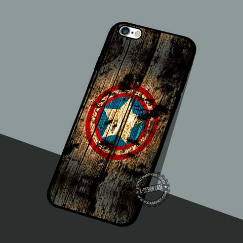Wood Symbols The Avengers - iPhone 7 6 5 SE Cases & Covers