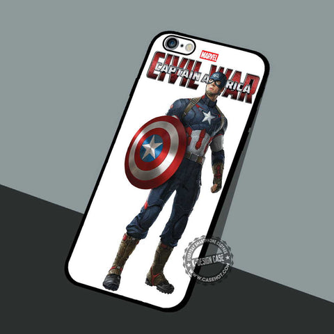 Captain and Shield - iPhone 7 6 5 SE Cases & Covers