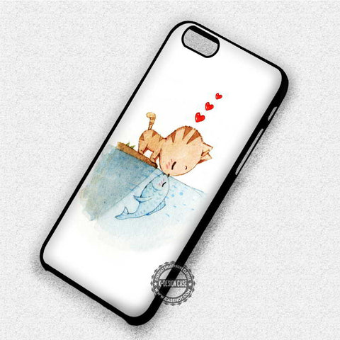 Cat Kissing A Fish - iPhone X 8+ 7 6s SE Cases & Covers