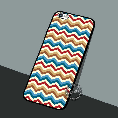 Chervon Vintage Pattern - iPhone 7 6 5 SE Cases & Covers