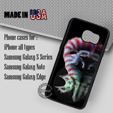 Cheshire Cat Alice in Wonderland - Samsung Galaxy S8 S7 S6 Note 8 Cases & Covers