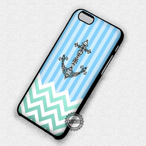 Chevron Green Stripe - iPhone 7 6S SE 4 Cases & Covers