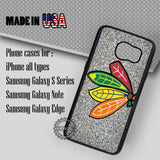 Chicago Logo Glitter - Samsung Galaxy S7 S6 S5 Note 5 Cases & Covers