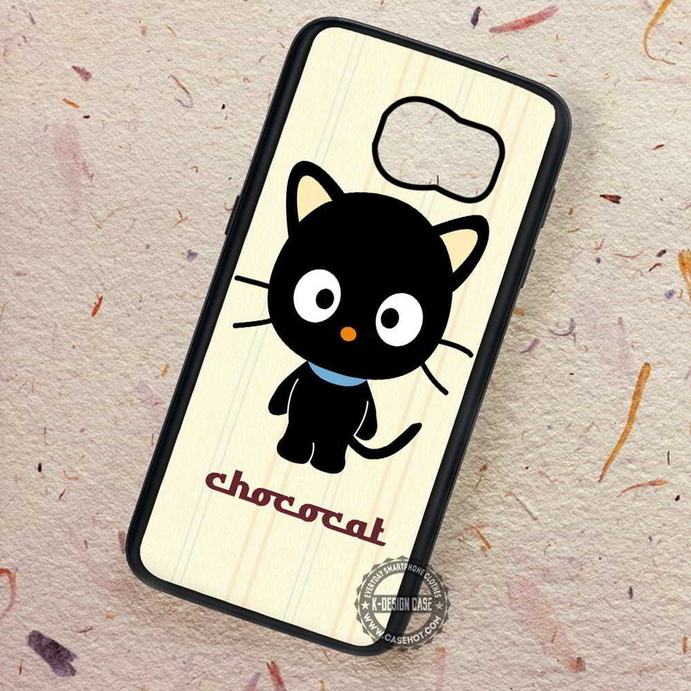 Chococat Vector Cute Cartoon Black - Samsung Galaxy S7 S6 S5 Note 7 Cases &  Covers