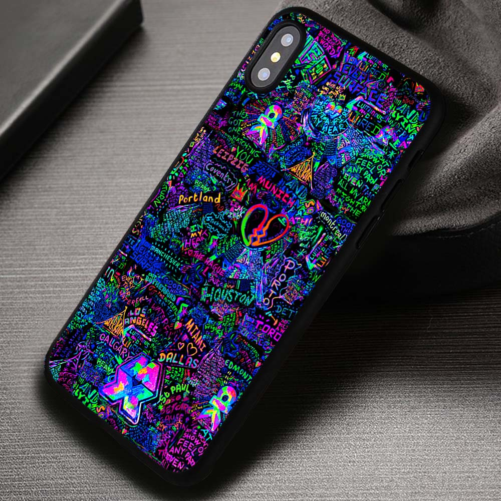 Coldplay mylo xyloto live graffiti iphone x 8 7 6s se cases cover samsungiphonecases