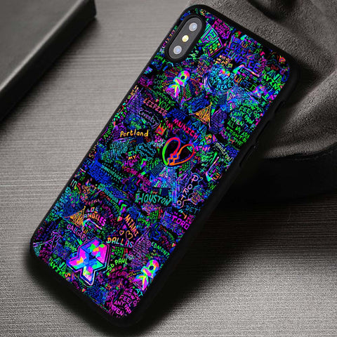 Coldplay Mylo Xyloto Live Graffiti - iPhone X Case