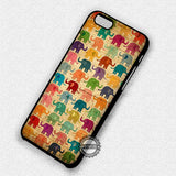 Colorful Elephant Wood - iPhone 7 6S SE 4 Cases & Covers