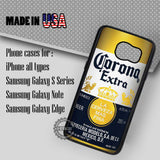 Corona Extra Beer - Samsung Galaxy S7 S6 S5 Note 5 Cases & Covers