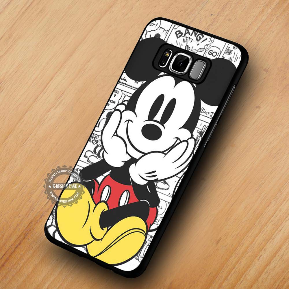 new product c7416 3bbb8 Cute Mickey Mouse Comics - Samsung Galaxy S8 S7 S6 Note 8 Cases & Covers  #SamsungS8