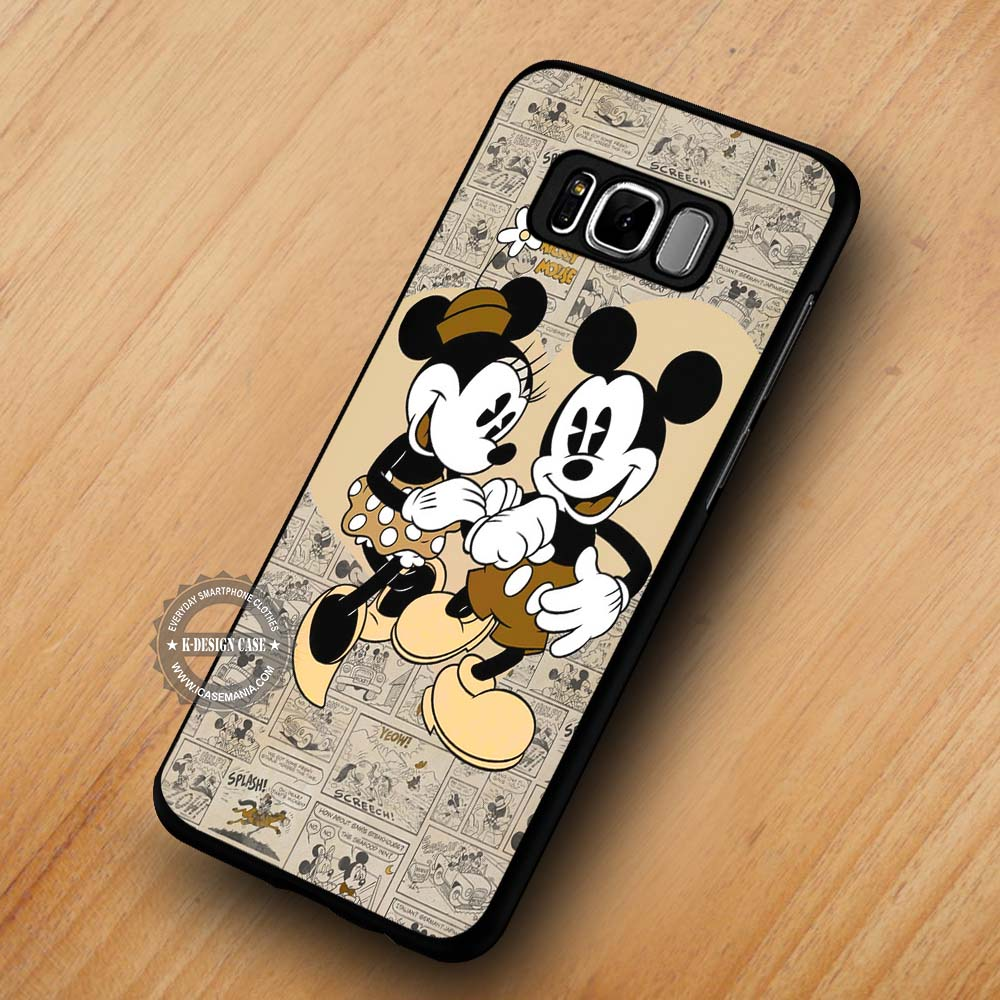 premium selection eea74 6c6eb Cute Love Minnie Mouse Mickey Mouse - Samsung Galaxy S8 S7 S6 Note 8 Cases  & Covers #SamsungS8