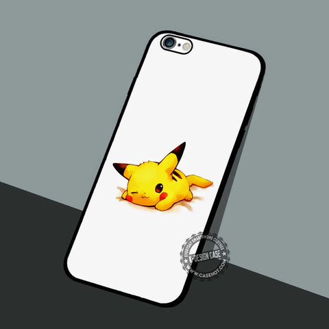 Cute Pika Pokemon - iPhone 7 6 5 SE Cases & Covers