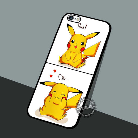 Pikachu Funny Pokemon - iPhone 7 6 5 SE Cases & Covers