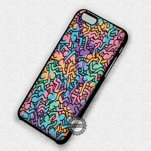 Keith Haring Colorful - iPhone 7 6 Plus 5c 5s SE Cases & Covers