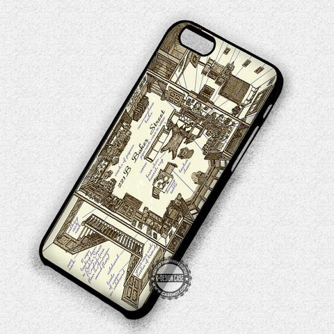 Baker Street Map - iPhone 7 6 5 SE Cases & Covers