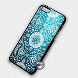 Damask Pattern Green Glitter - iPhone 7 6S SE 4 Cases & Covers
