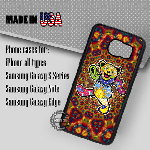 Dancing Bear Mandala - Samsung Galaxy S7 S6 S5 Note 5 Cases & Covers