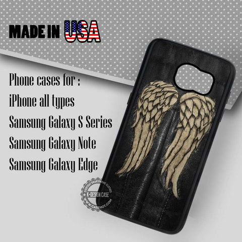 Daryl Dixon Wings Logo - Samsung Galaxy S7 S6 S5 Note 5 Cases & Covers