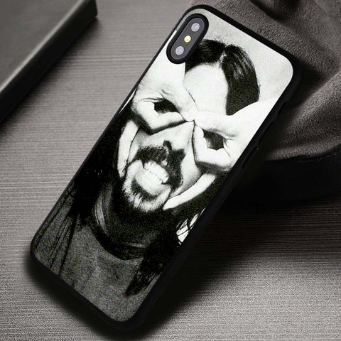 Dave Grohl Finger Mask Foo Fighters - iPhone X Case