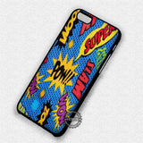 Dc Comic Word Action - iPhone 7 6 Plus 5c 5s SE Cases & Covers