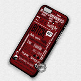 Dean Winchester's Quote - iPhone 7 6 Plus 5c 5s SE Cases & Covers