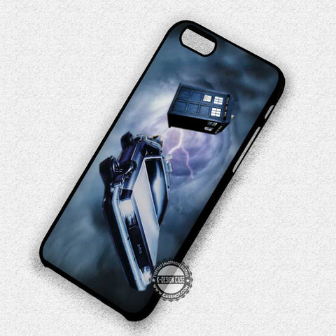 Delorean Car and Police Box - iPhone 7 6 5 SE Cases & Covers