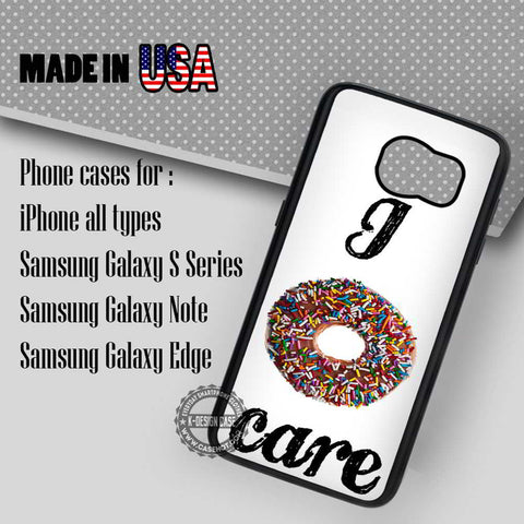 Doughnut Food Quote  - Samsung Galaxy S7 S6 S5 Note 5 Cases & Covers