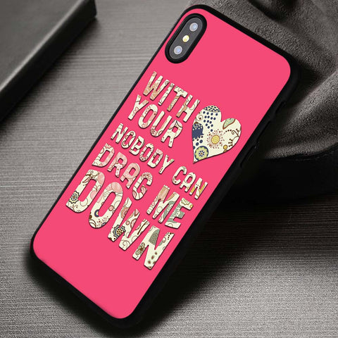 Drag Me Down Lyric One Direction - iPhone X Case