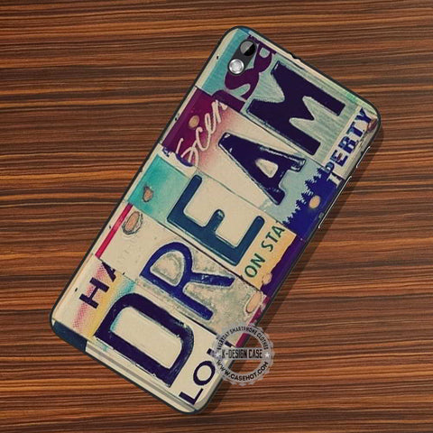 Dream License Plate - LG Nexus Sony HTC Phone Cases and Covers