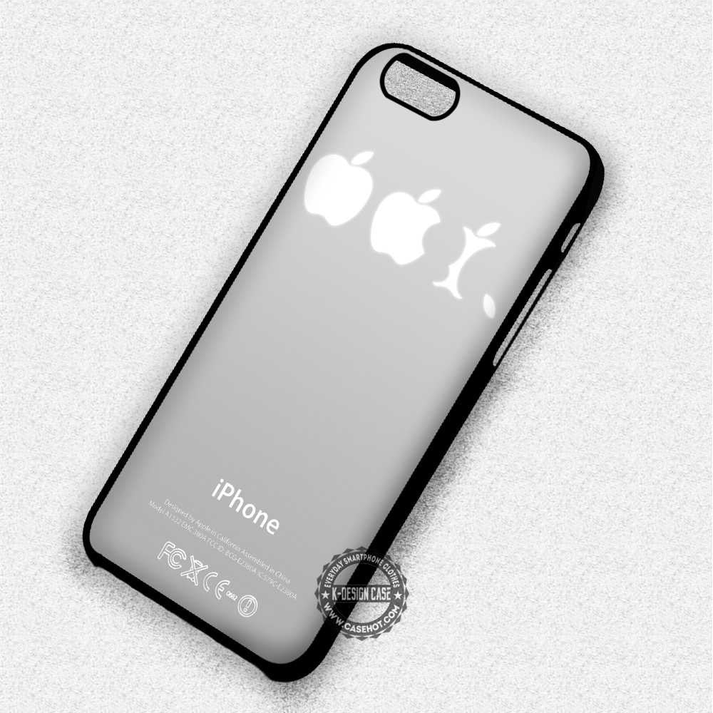 outlet store bc06b 0f143 Eaten Apple Logo Funny - iPhone 7 6 5 SE Cases & Covers