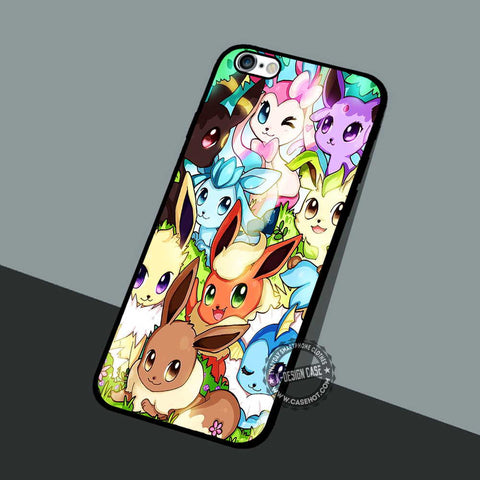 Espeon and Sylveon - iPhone 7 6 5 SE Cases & Covers