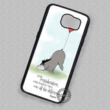 Eeyore Balloon Tail Quote Disney - Samsung Galaxy S7 S6 S4 Note 5 Cases & Covers