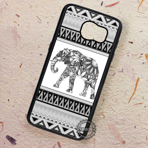 Elephant Colorfull Tribal Art Aztec Flower - Samsung Galaxy S7 S6 S5 Note 7 Cases & Covers