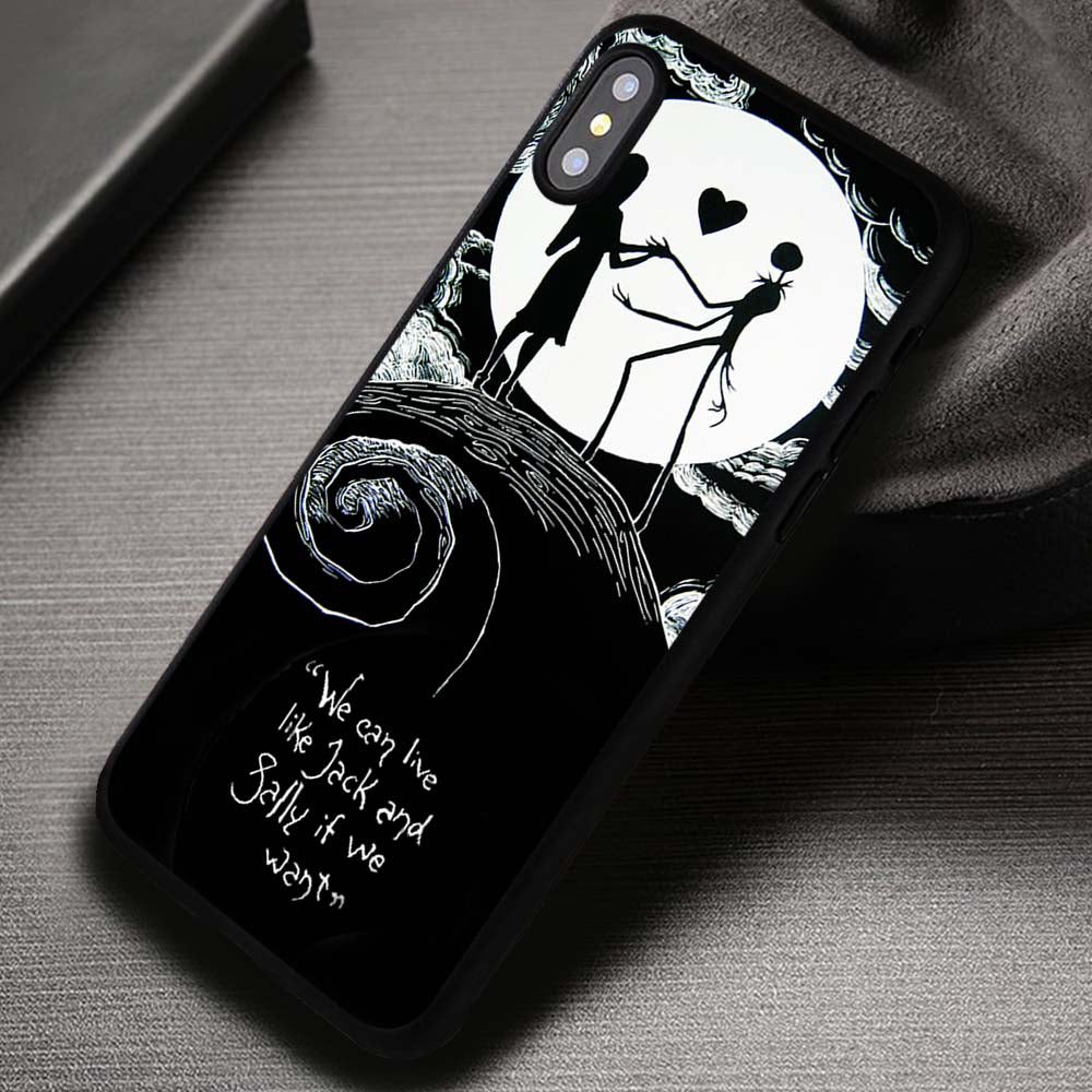 Eternal Couple Nightmare Before Christmas - iPhone X 8+ 7 6s SE Cases & Covers #iPhoneX