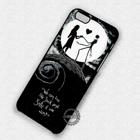 Eternal Couple Jack & Sally - iPhone X 8+ 7 6s SE Cases & Covers