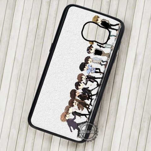 Exo Boyband Collage Cartoon Cute Art - Samsung Galaxy S7 S6 S5 Note 7 Cases & Covers