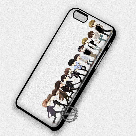 Exo Boyband Collage Cartoon Cute Art - iPhone 7+ 6S 5 SE Cases & Covers
