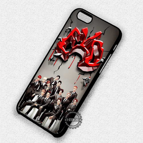 Exo Logo Collage Boyband Music - iPhone 7+ 6S 5 SE Cases & Covers
