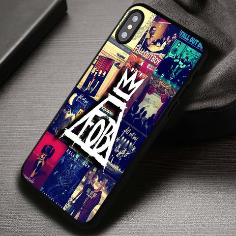 FOB Collage Fall Out Boys 5SOS Bastille - iPhone X Case