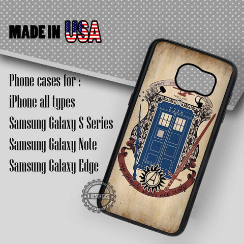 Fandoms Sherlock Tardis Vintage - Samsung Galaxy S7 S6 S5 Note 5 Cases & Covers