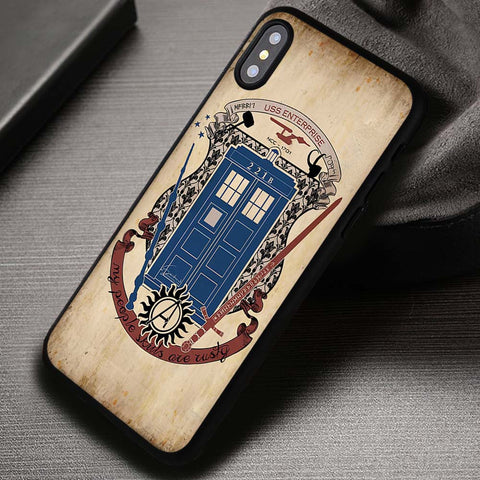 Fandoms Sherlock Tardis Dr - iPhone X Case