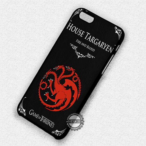 Fire and Blood Targayen - iPhone 7 6 Plus 5c 5s SE Cases & Covers