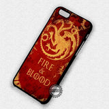 Fire and Blood - iPhone 7 6 Plus 5c 5s SE Cases & Covers