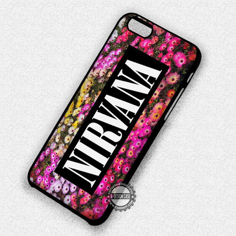 Floral Logo Nirvana - iPhone 7 6 Plus 5c 5s SE Cases & Covers