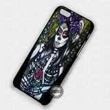 Floral Skull Sugar - iPhone 7 6 Plus 5c 5s SE Cases & Covers