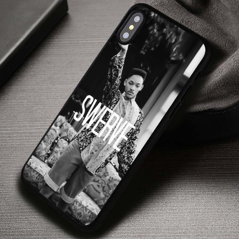 Fresh Prince of Bel Air funny Black White - iPhone X Case